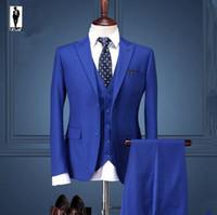 Wholesale Black White Stripe Blazer - UR 170 Royal Blue Bussiness New Autumn Anzug Handmade Plus Size Costume Homme Blazer Tuxedo Wedding Suits For Men Custom Made Men Suits