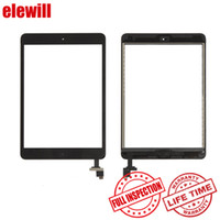 Wholesale For iPad Mini Touch Screen Glass Digitizer Replacements Home Button Chip IC Adhesive Pre assembly with Free DHL Shipping