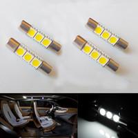 Wholesale Led Turn Lights Mirrors - 20PCS LOT WHITE Blue 3-SMD T6 6641 LED Bulbs For Car Sun Visor Vanity Mirror Fuse Lights