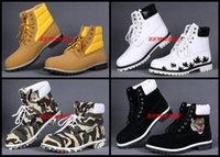 Wholesale Cheap Boots For Winter Days - Maple Leafs Camo Outdoor Boots For Men Cheap Working Shoes Winter Flats Snow Warm Shoes Casual Solid Sneakers