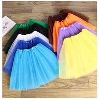 gazlı bez dans kostümleri toptan satış-Bebek Kız Çocuk Çocuk Dans Giyim Tutu Etek Pettiskirt Giyim Bale Elbise Fantezi Etekler Kostüm Gazlı Bez Etek 3-10 T için