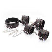 Wholesale Wholesale Adult Harnesses - sex adult collar legcuffs handcuffs sexy sex toys bdsm bondage harness set adult games for merried couples