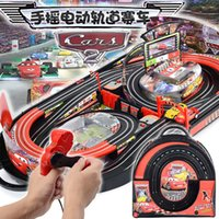 Wholesale Toy Cars For Electric Track - Wholesale- Electric RC Train Track Sets For Kids Christmas Gift Toy Railway Tracks Trains Parent-Child Interaction Remote Control Rail Car