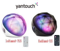 Wholesale Glass Diamond Buttons - 100% Original Yantouch Ice Diamond Plus Bluetooth APP Speaker,Black Diamond Brilliant LED Colorful Light with Alarm Clock magic ball Speaker