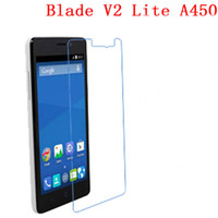 Wholesale Tempered Glass Free Shipping - 9H Tempered Glass For ZTE Blade V2 Lite A450 phone film Phone Protective touch screen protector Free shipping