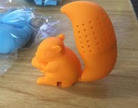 Wholesale Fun Tea Infuser - 2015 High Quality Cute Squirrel Tea Strainer Silicone loose-leaf Tea Infuser Filter Diffuser Fun Tea Accessories