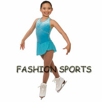 Wholesale Ice Skating Dresses For Girls - Custom Figure Ice Skating Dresses New Brand Skating Dress For Competition HB2901