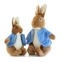 Wholesale Free Peter - 40cm 55cm Peter Rabbit plush toys bunny children toys soft stuffed toys doll cartoon kawaii animals kids stuffed brinquedos free shipping