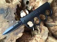 soğuk çelik bıçakları tanto toptan satış-Soğuk Çelik SUIFENG 1918.U.S. Knuckle Duster TANTO SERISI Taktik Katlanır Bıçak Titanyum 3Cr13Mov ocket Yardımcı EDC Araçları Noel Koleksiyonu