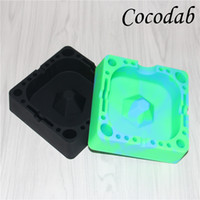 Wholesale Cigarette Ash Trays - Colorful Tobacco Jar silicone ashtray for Home novelty crafts for cigarettes ash tray Smoking accessories gadgets silinectar collector