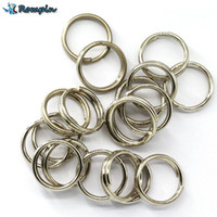 Wholesale crank lures - Rompin 100Pcs Stainless Steel Split Rings for Blank Lures Crank bait Hard Bait carp Fishing Tools Double Loop 6mm 7mm 8mm