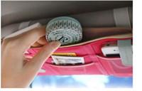 Wholesale visor organizer for car resale online - 2016 HOT sun shield storage bag car organizer bag colors multi purpose Sunvisor point pocket auto car hanging scanvas use for car