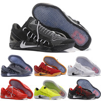 Wholesale Ad Flat - 2018 New Mens KOBE A.D. NXT 12 men KB Volt White Black AD WOLF GREY Zoom Sport Shoes,discount Cheap Basketball Shoes