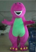 Wholesale Barney Dinosaur Dress - 2015 Barney the Dinosaur Adult Size Halloween Cartoon Mascot Costume Fancy Dress