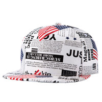 Wholesale Leather Snapback Design - Dancers 2016 US Map and Newspaper Fashion Design Gorras Planas Hip Hop Hat Men's Snapback Caps Z-2623