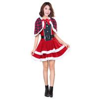 Wholesale Lady Santa Outfits - Adult Mrs Miss Santa's Helper Ladies Christmas Costume Fancy Dress Xmas Outfit