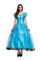 Wholesale Alice Costume Xl - Costumes Princess Dresses Adult Fancy Cosplay Halloween Costume for Women Fantasias Dress woman blue Alice fantasy wonderlandwholesale PS032