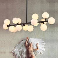 16 light chandelier NZ - North Europe Modo Chandelier LED Creative DNA Pendant Light 16 18 25 Globes Glass Lampshade Chandelier LED Lighting Fixture For Decoration