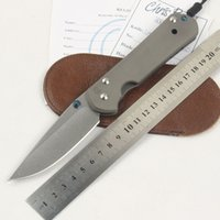 Wholesale Great Handles - Chris Reeve Great sebenza 21 D2 TC4 titanium handle folding knife camping hunting outdoor survival tool pocket EDC Knives tools