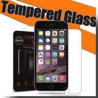 protectores de vidrios templados al por mayor-Para iPhone 6 Tempered Glass Protector de pantalla de película para i5 iPhone 6 6s Galaxy S6 S6 Edge Note 3 Note 5 caja al por menor
