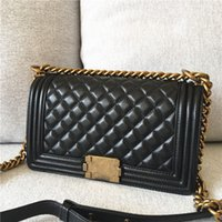 Wholesale Leather Lock Stripes - Free Shipping Fashion Women Leather Crossbody Designer Handbag Cover Plaid Chain Ladies Shoulder Bags Classic Messenger Bags Wholesale C2120