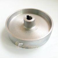 Wholesale Driving Wheel - 200*54*24mm Fully Aluminum Belt Grinder Running Wheel Roller Driving Wheel with 10*6mm Key Slot