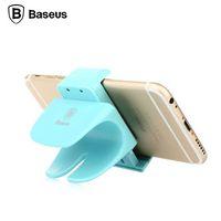 lenkrad montiert bluetooth großhandel-Iconic Marke BASEUS Steer Wheel Bike Clip Auto Halterung Halter universal für iPhone für 3.5-5.5 '' Mobile Handys GPS Tab