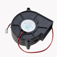 напряжение вентилятора оптовых-Wholesale- 1pcs GDT DC 2Pin 7CM 75X30MM 70MM Brushless Cooling Blower Fan 24 Volt