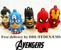 Wholesale Black Spider Man Figure - 3D Cute Avengers Captain America Iron man Spider man Superman Batman Keychains with OPP Plastic Bags