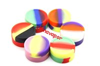 Wholesale E Pure - 30 PCS Nonsolid Color Pure Wax Dry Herb Jars E Cigarette Silicone Container For Dry Herb Atomizer AGO G5 Oil Wax Vaporizer ego vapor e cigs