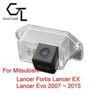 mitsubishi ters kamerası toptan satış-Mitsubishi Lancer Fortis Lancer EX Lancer Evo 2007 ~ 2015 için Kablosuz Araba Oto Ters CCD HD Dikiz Kamera Park Yardımı