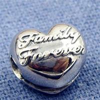 Wholesale Union Family - New 100% S925 Sterling Silver Family Union Clip Charm Bead Fits European Pandora Jewelry Bracelets