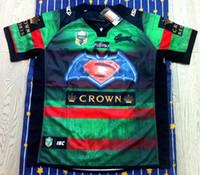 transferencia de camisetas al por mayor-¡Envío gratis! NRL Liga de rugby nacional South Sydney Rabbitoh 2nd jersey jersey de alta temperatura de transferencia de calor jersey de rugby