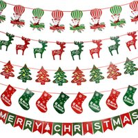 Christmas Hanging Flag Festival Accueil Wall Window Decor Lettres Elk Sapling Balloon Paper Banner Tree Pendentif Pendentif 1 9hq F R