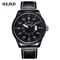Wholesale Read Dial - New Fashion Top Luxury Brand Sports Watches Men Quartz Ultra Thin dial Clock Sports Military Watch Relogio masculino READ 2062