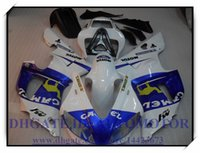 СИСТЕМА ВПРЫСКА BRAND NEW обтекателя KIT 100% FIT FOR YAMAHA YZFR1 1998 1999 YZF R1 98 99 YZF1000 YZF R1 1998-1999 годов # CJ837 белый синий