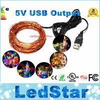 Wholesale Indoor Tree Light - Waterproof Outdoor Indoor Lights DC 5V USB Connector 10M 100 LED String Lights Holiday Christmas Xmas Wedding Decorations Party LED Strings