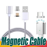 Wholesale High Quality Smart Phones - Magnetic Cable Nylon Braided Micro USB Type C Charger Cable High Quality Data Sync Charging Cord For Samsung Note 8 Android Smart Phones