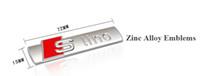 Wholesale Tt Car Sticker - Car Emblems Car Sline Stickers Auto Supplies For AUDI A4L A4 A6 A8 Q3 Q5 Q7 TT Side Emblems 2pcs pair Car Styling