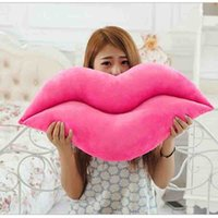 Wholesale Sexy Toys Items - Hot sale creative novelty item funny pink   red lip plush decoration cushion sexy toys sofa chair pillows