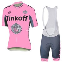 Wholesale Saxo Bank Sets - Cycling Saxo Bank Tinkoff Cycling Jersey women short set Polyester Lycra pink color Breathable Jersey Size XXS - 4XL