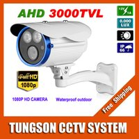 Wholesale Waterproof Infrared Video Camera - New Product 1920*1080P 3000TVL Waterproof Outdoor 2* Array infrared Security 2MP Video Surveillance AHD CCTV Camera With Bracket
