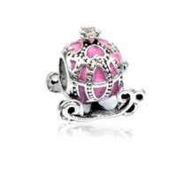 Wholesale pandora snake chain necklace online - Fit Pandora Charm Bracelet European Silver Charms Beads Cinderella Pumpkin Carriage DIY Snake Chain For Women Bangle Necklace Jewelry Xmas