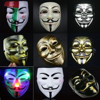 Wholesale 2016 New V for Vendetta Party Masks Anonymous Fancy Dress Fancy Cosplay Carnival Costumes Party Supplies
