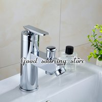 Wholesale Two Hole Bathroom Faucet - Wholesale- hot and cold water zinc alloy two water outlet bathroom mixer faucet