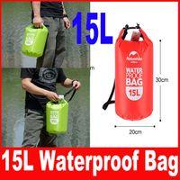 Wholesale Dry Bag 15l - 15L Ultra-portable waterproof travel bags 4 colors NatureHike outdoor drifting swimming waterproof bags Red Blue Orange Green
