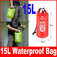 mavi yüzme çantası toptan satış-15L Ultra-taşınabilir su geçirmez seyahat çantaları 4 renkler NatureHike açık sürüklenen yüzme su geçirmez çanta Kırmızı / Mavi / Turuncu / Yeşil