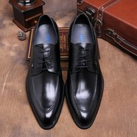 black italian vogue - Vogue of new fund of Italian style of leather shoes arrows pointed Oxford shoes casual shoes