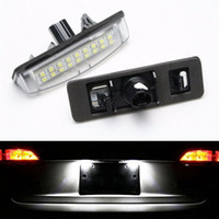 Wholesale Led Light Bulbs Toyota Camry - 2Pcs Error Free 18 3528 SMD LED License Number Plate Light Lamps fit for Toyota Camry Aurion Prius Lexus IS300 GS430 RX330 ES300