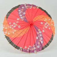 ingrosso mini ombrello bambini-Ombrelli 20 Pz / lotto 30 cm Stile giapponese Ombrello di carta giapponese Mini mano-Verniciato a lungo-dritto Parasole artigianato Decorazione della casa Za 4247